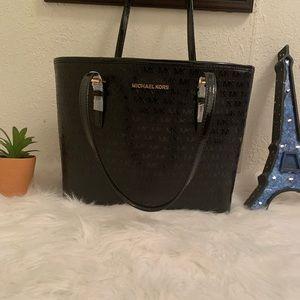 Michael Kors black patent leather tote 👜 bag